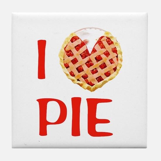 I Love Pie Tile Coaster