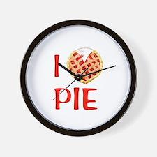 I Love Pie Wall Clock