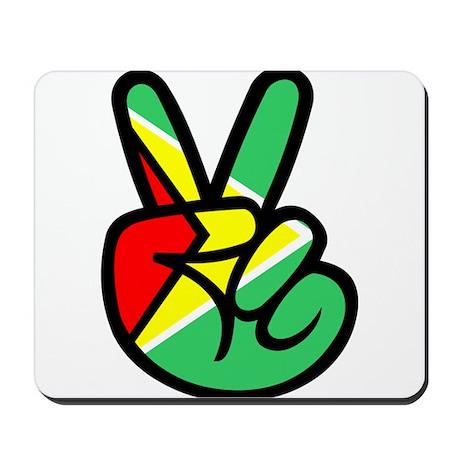 Guyana Peace & Love T-shirt Mousepad