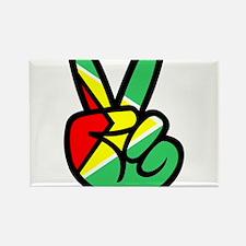 Guyana Peace & Love T-shirt Rectangle Magnet