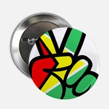 "Guyana Peace & Love T-shirt 2.25"" Button"