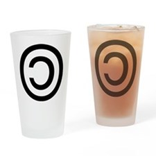 Copyleft Drinking Glass