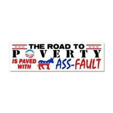 """Road To Poverty"" Car Magnet"