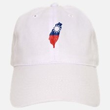 Taiwan Flag And Map Baseball Baseball Cap