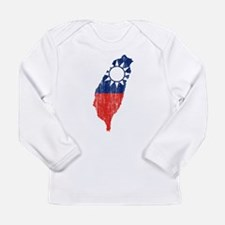 Taiwan Flag And Map Long Sleeve Infant T-Shirt
