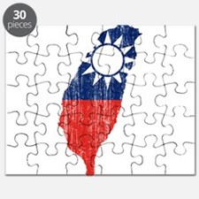 Taiwan Flag And Map Puzzle