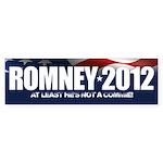 Romney 2012 - Not a Commie Bumper Sticker