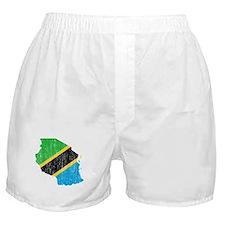 Tanzania Flag And Map Boxer Shorts