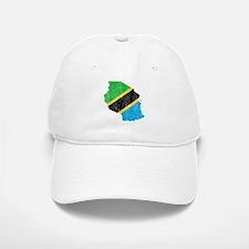 Tanzania Flag And Map Baseball Baseball Cap