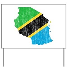 Tanzania Flag And Map Yard Sign