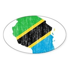 Tanzania Flag And Map Decal