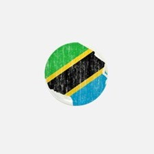 Tanzania Flag And Map Mini Button
