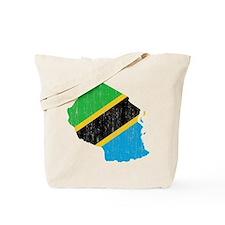 Tanzania Flag And Map Tote Bag