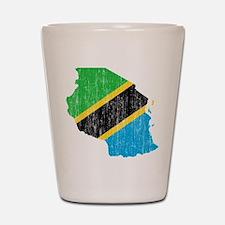 Tanzania Flag And Map Shot Glass