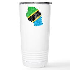 Tanzania Flag And Map Travel Mug