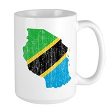 Tanzania Flag And Map Mug