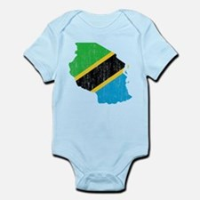 Tanzania Flag And Map Infant Bodysuit