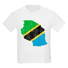 Tanzania Flag And Map T-Shirt