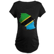 Tanzania Flag And Map T-Shirt