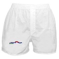 Gambia Flag And Map Boxer Shorts