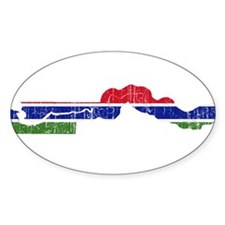 Gambia Flag And Map Decal