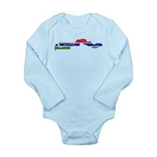 Gambia Flag And Map Onesie Romper Suit