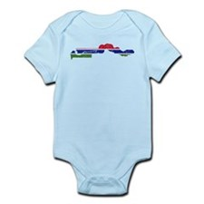 Gambia Flag And Map Infant Bodysuit