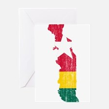 Togo Flag And Map Greeting Card