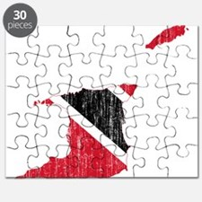 Trinidad And Tobago Flag And Map Puzzle