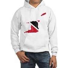 Trinidad And Tobago Flag And Map Hoodie