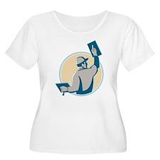 plasterer construction worker trowel T-Shirt