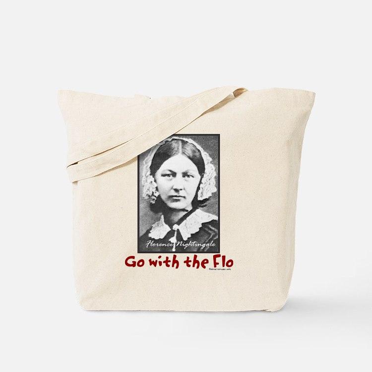 Go with the Flo Nightingale Nurse Tote Bag