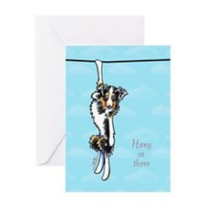 Australian Shepherd Hang in There Greeting Card