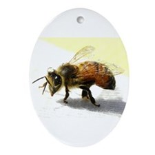 honeybee Ornament (Oval)