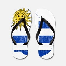 Uruguay Flag And Map Flip Flops