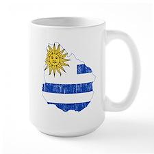 Uruguay Flag And Map Mug