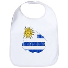 Uruguay Flag And Map Bib