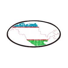 Uzbekistan Flag And Map Patches