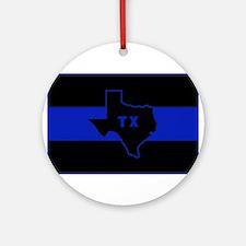 Thin Blue Line - Texas Ornament (Round)