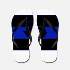 Thin Blue Line - Texas Flip Flops