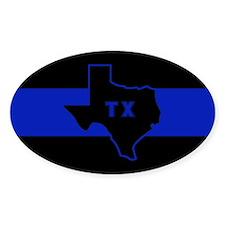 Thin Blue Line - Texas Stickers