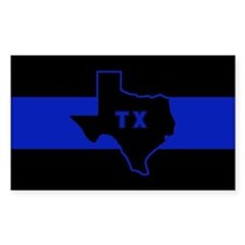 Thin Blue Line - Texas Decal