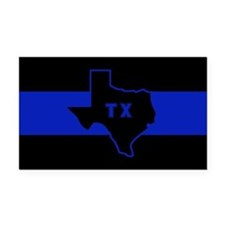 Thin Blue Line - Texas Rectangle Car Magnet