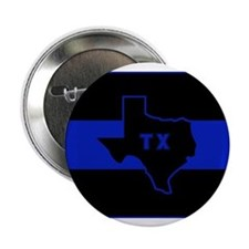 "Thin Blue Line - Texas 2.25"" Button (10 pack)"