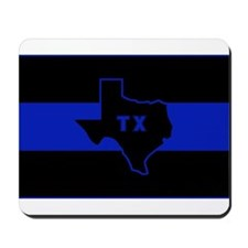 Thin Blue Line - Texas Mousepad