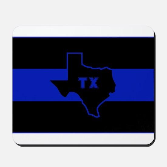 Thin Blue Line - Texas Mousepad