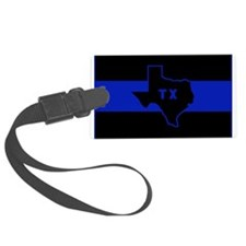 Thin Blue Line - Texas Luggage Tag