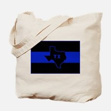 Thin Blue Line - Texas Tote Bag