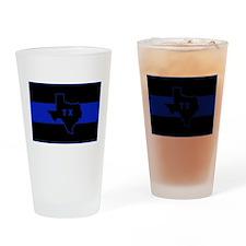 Thin Blue Line - Texas Drinking Glass