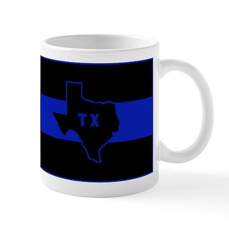 Thin Blue Line - Texas Mug